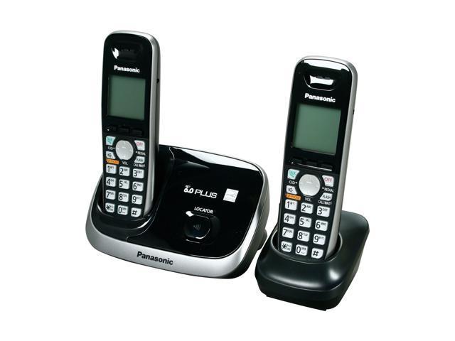 Panasonic KX-TG6512B 1.9 GHz Digital DECT 6.0 2X Handsets Cordless Phone