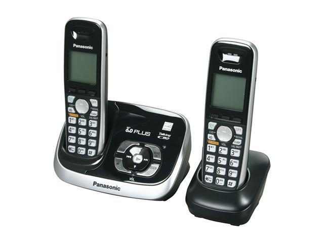 Panasonic KX-TG6532B 1.9 GHz Digital DECT 6.0 2X Handsets Cordless Phone