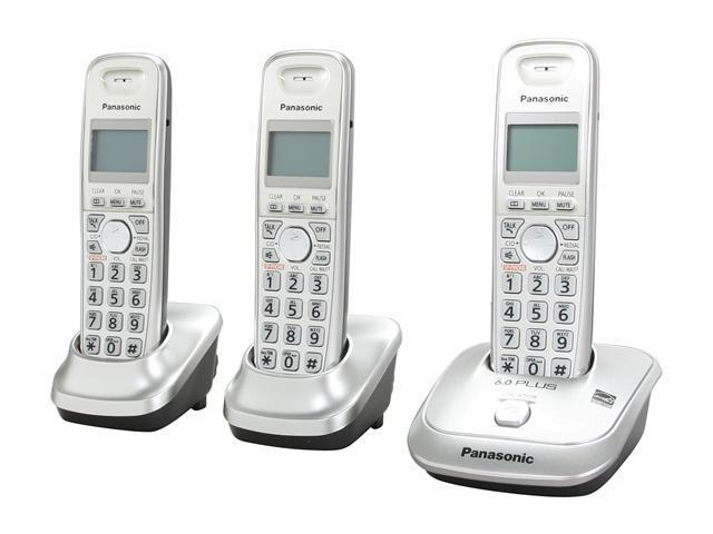 Panasonic KX-TG4013N 1.9 GHz Digital DECT 6.0 3X Handsets Cordless Phone