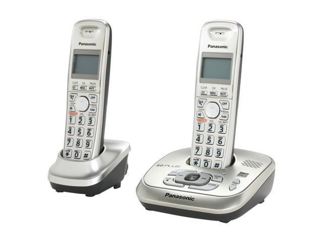 Panasonic KX-TG4022N 1.9 GHz Digital DECT 6.0 2X Handsets Cordless Phone Integrated Answering Machine