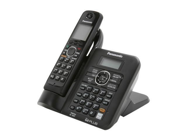 Panasonic KX-TG6641B 1.9 GHz Digital DECT 6.0 1X Handsets Cordless Phones with Answering Machine
