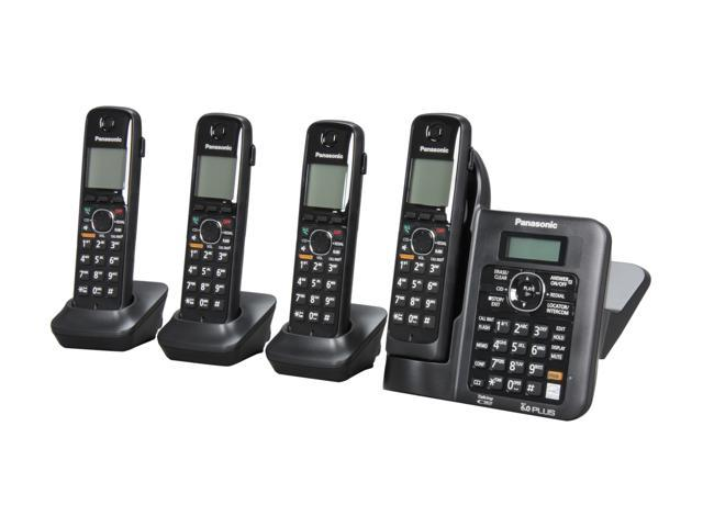 Panasonic KX-TG6644B 1.9 GHz Digital DECT 6.0 4X Handsets Cordless Phones