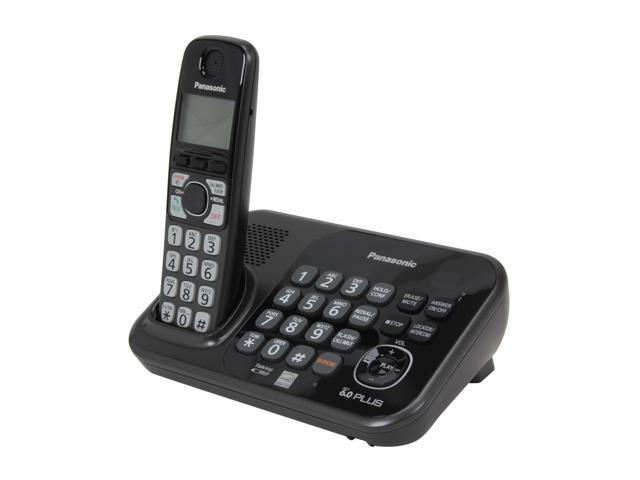 Panasonic KX-TG4741B 1.9 GHz Digital DECT 6.0 1 Handset Cordless Phones with Answering Machine
