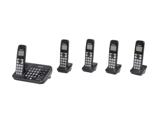 Panasonic KX-TG4745B 1.9 GHz Digital DECT 6.0 5 Handsets Cordless Phones with Answering Machine