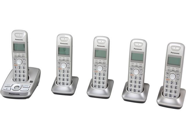 Panasonic KX-TG4225N 1.9 GHz DECT 6.0 5X Handsets Expandable Digital Cordless Answering System Integrated Answering Machine