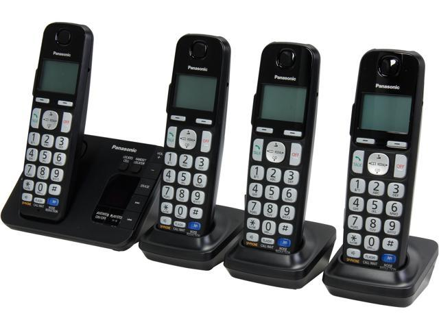 Cordless home phones with answering machines newegg panasonic kx tge234b 19 ghz dect 60 4x handsets expandable digital cordless answering system with sciox Images