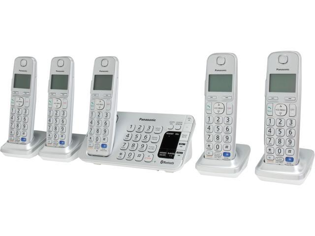 Link2Cell Bluetooth® Corldess Phone with Large Keypad- 5 Handsets