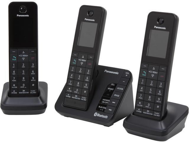 Panasonic KX-TGH263B 3 Handset DECT 6.0 Plus Cordless Phone