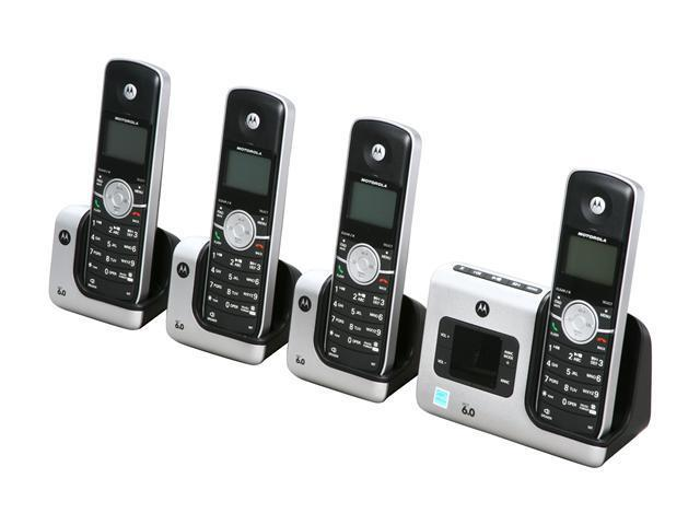 motorola 4x. motorola l404 1.9 ghz digital dect 6.0 4x handsets motorola essention cordless phone integrated answering machine 4x u
