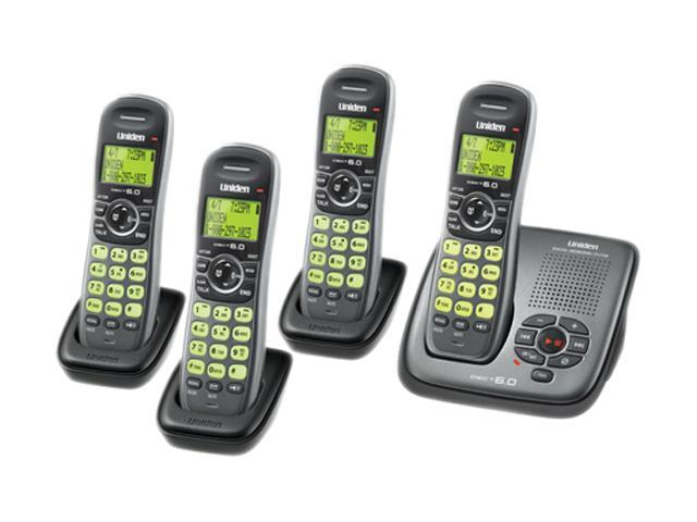 Uniden DECT1480-4G 1.9 GHz Digital DECT 6.0 4X Handsets Cordless Phones