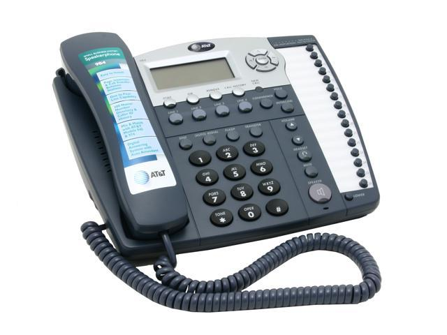 AT&T 984 4-line Operation corded phone Integrated Answering Machine