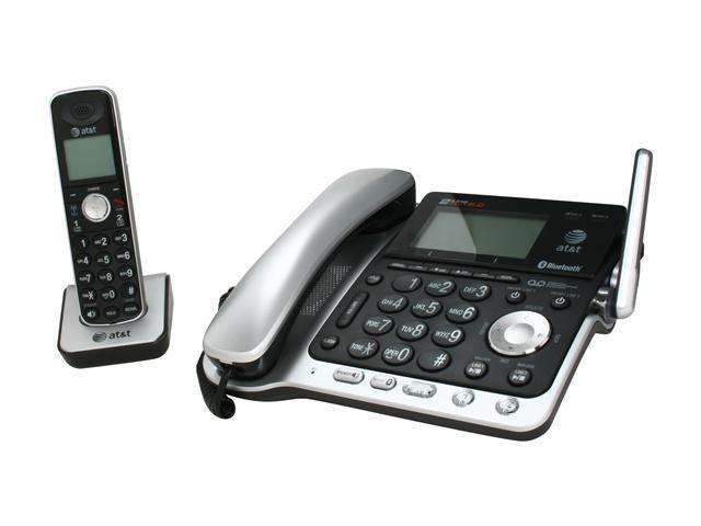 AT&T TL86109 DECT 6.0 Digital 2-Line Answering System Cordless Phones