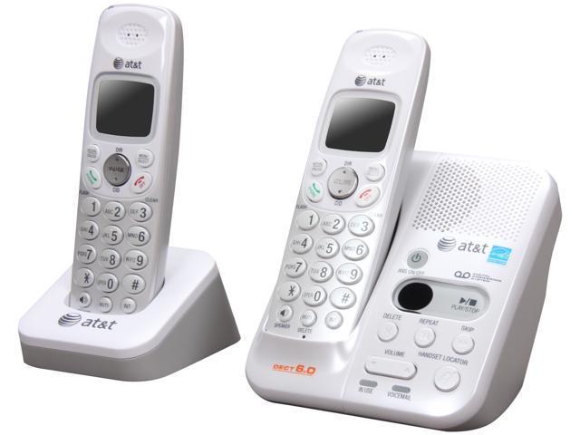 AT&T EL52209 DECT 6.0 2X Handsets White Cordless Phones