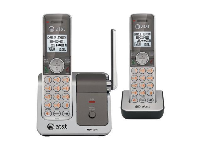 AT&T ATTCL81201 1.9 GHz Digital DECT 6.0 2X Handsets Cordless Phones With Push-to-talk Between Handsets