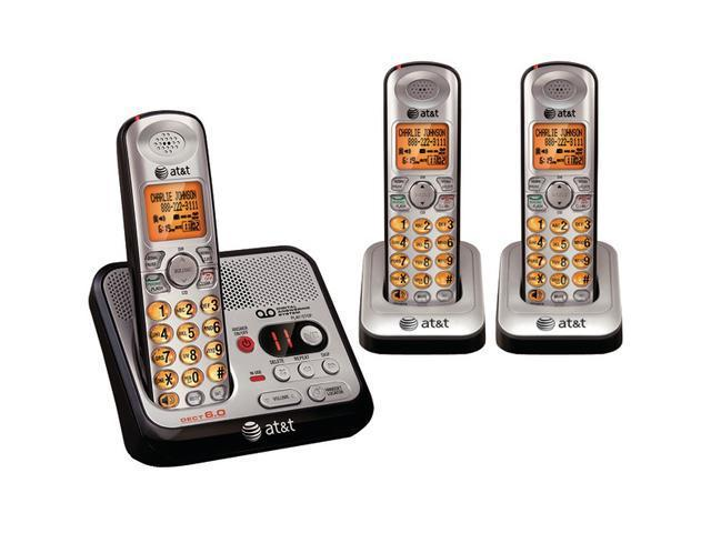 AT&T ATTEL52300 1.9 GHz Digital DECT 6.0 3X Handsets Cordless Phones with Digital Answering System