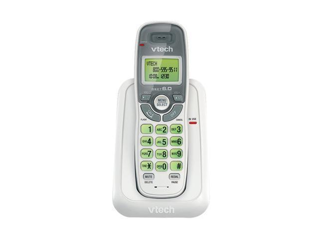 Vtech CS6114 1 Handset Cordless Phone- Caller ID, White