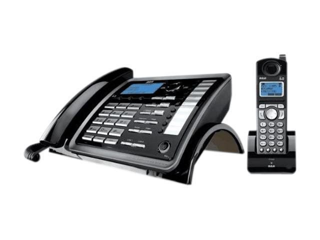 RCA 25255RE2 1X Handsets 2 Line Corded/Cordless Expandable Speakerphone Integrated Answering Machine