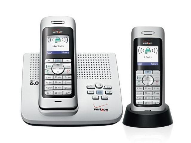 Verizon V300AM-2 1.9 GHz Digital DECT 6.0 2X Handsets Cordless Phone Integrated Answering Machine