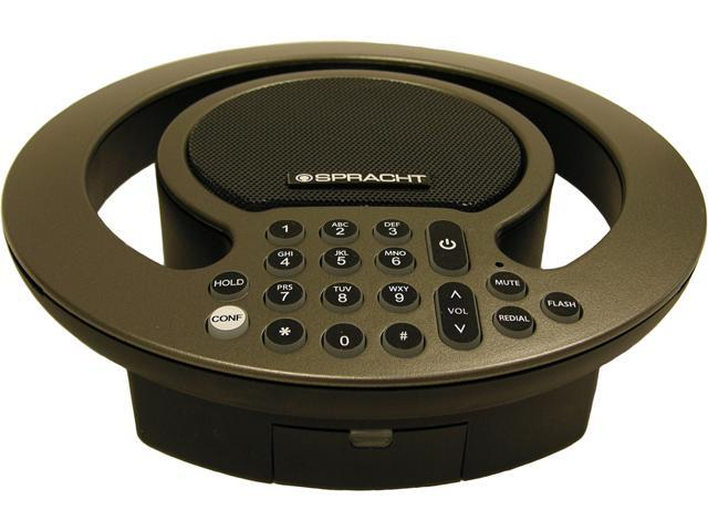 Spracht Aura SOHO Full-Duplex PSTN/Analog Conference Phone with Expandable Capability - Amber