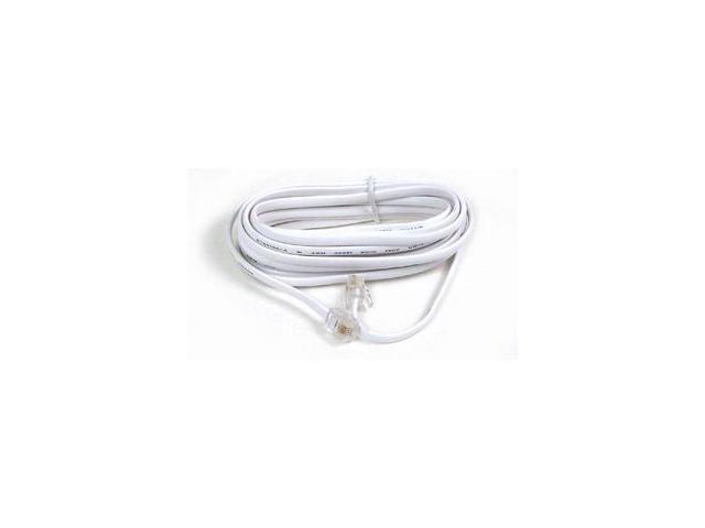 Belkin F8V100-12-WH Phone Line Cord, White, 12 feet (3.7m)