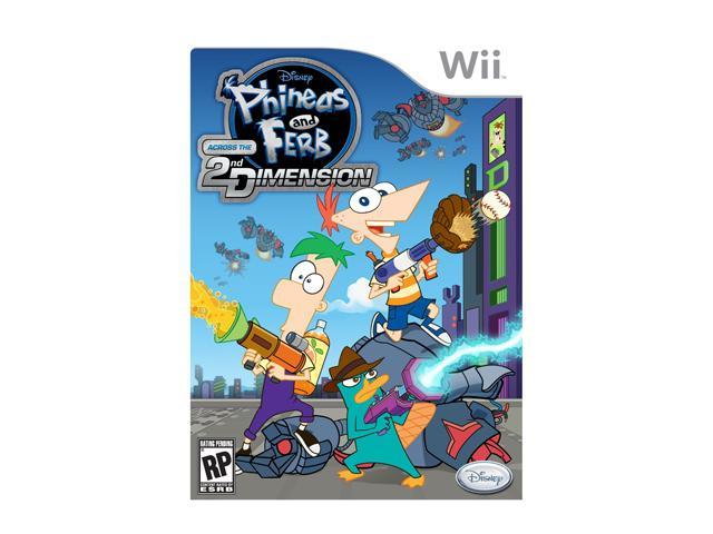 Phineas and Ferb: Across the Second Dimension Wii Game Disney