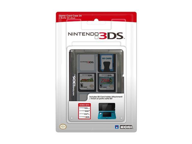 HORI Nintendo 3DS Game Card Case 24 (Black)