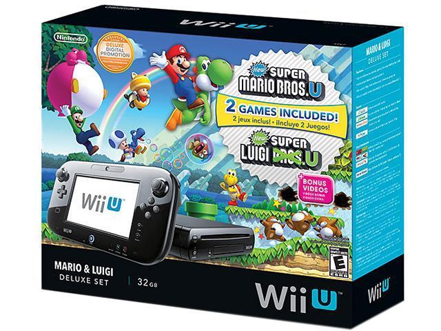 Nintendo Wii U Mario & Luigi Deluxe Set Black