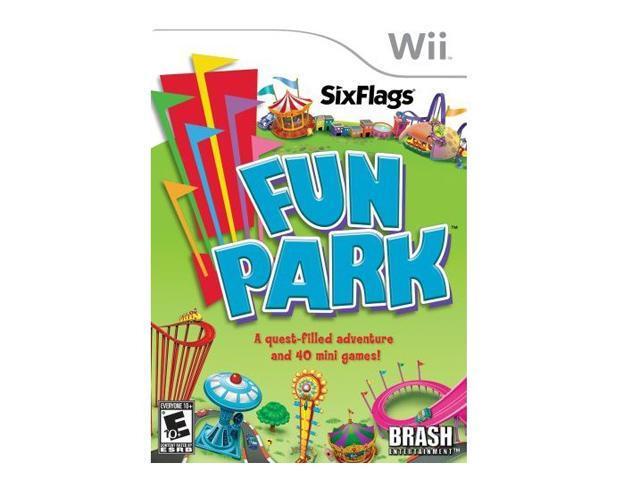 Six Flags Fun Park Wii Game Brash Entertainment
