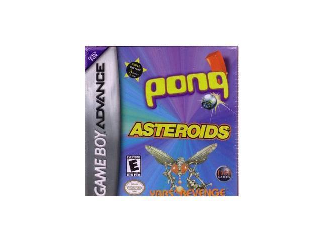 Asteroids/Pong/Yar's Revenge GameBoy Advance Game DSI GAMES