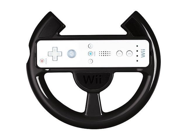 Power A Wii Racing Wheel Black