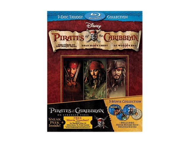 Pirates of the Caribbean Trilogy (Blu-ray/WS) Johnny Depp, Orlando Bloom, Kiera Knightly, Geoffrey Rush, Bill Nighy