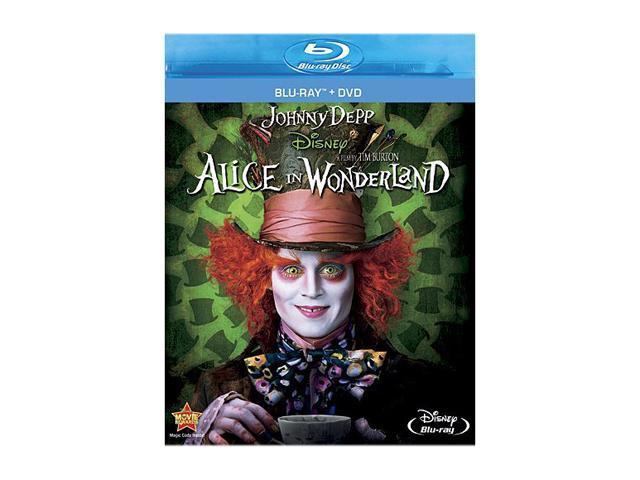 Alice in Wonderland (DVD + Blu-ray) Mia Wasikowska, Johnny Depp, Anne Hathaway, Helena Bonham Carter, Michael Sheen (voice)