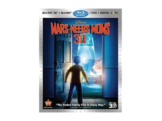 Mars Needs Moms (DVD + 3D Blu-ray/WS)