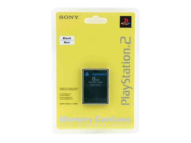 SONY Playstation 2 Memory Card- 8MB Black