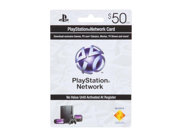 Sony $50 PlayStation Network Card