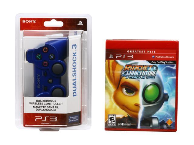 SONY Blue Dual Shock 3 and Ratchet & Clank: A Crack in Time (Holiday 2010)