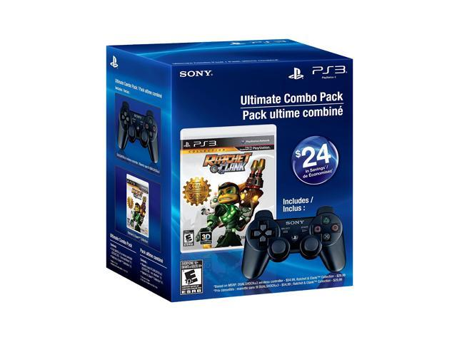 SONY PS3 DualShock 3 Black w/ Ratchet & Clank Collection Bundle