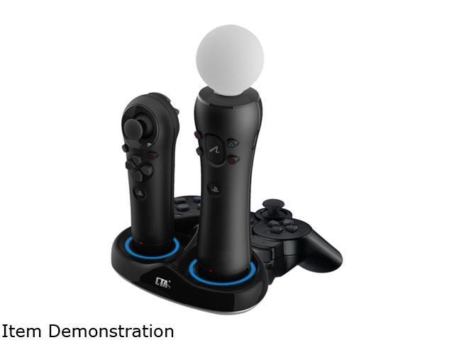 CTA Triple Port Charging Station for PlayStation Move Controllers & Sixaxis Controller