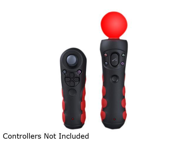CTA Protective Grips for PlayStation Move Controllers (Black & Red)