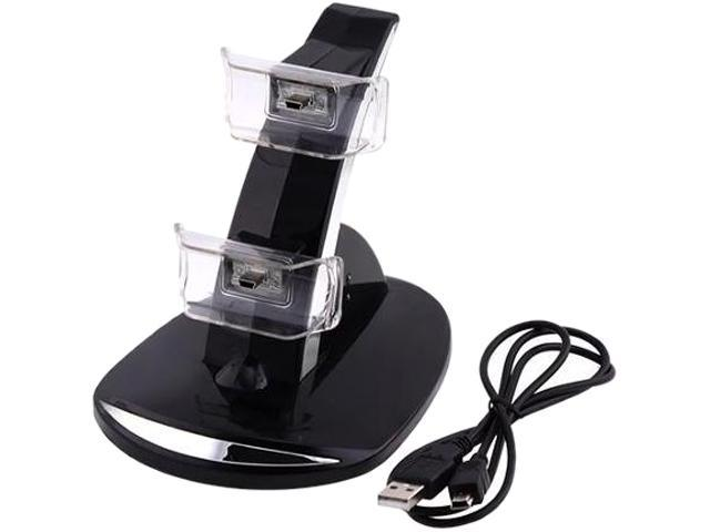 INSTEN Black Dual Charge Station Charger w/ Stand For Sony PS3 Playstation 3 / PS3 Slim Remote Controller