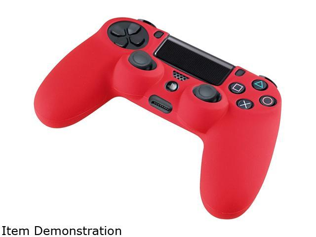 INSTEN Red Silicone Skin Case For Sony PS4 Playstation 4 Remote Controller