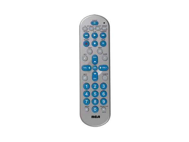 RCA RCR4358R Universal 4 Device Big Button Universal Remote