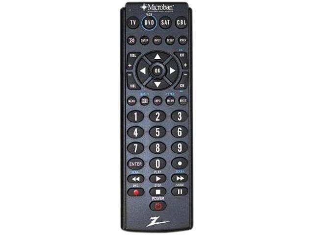 Zenith ZB410MB Universal Microban Universal Remote 4 Device LRG Rubberized Keys