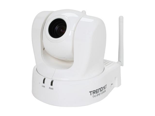 TRENDnet TV-IP612WN 704 x 576 MAX Resolution RJ45 ProView Wireless N Pan/Tilt/Zoom Internet Camera