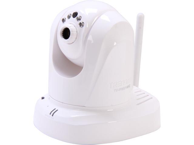 TRENDnet TV-IP851WIC 640 x 480 MAX Resolution RJ45 Wireless Day / Night PTZ Cloud Camera