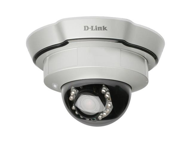 D-Link DCS-6111 640 x 480 MAX Resolution RJ45 Indoor Dome WDR IP Camera