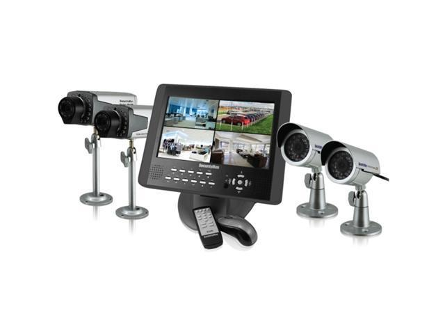 """SecurityMan LCDDVR4-320 10.2"""" LCD Monitor with 4-CH DVR 2-in-1 System"""
