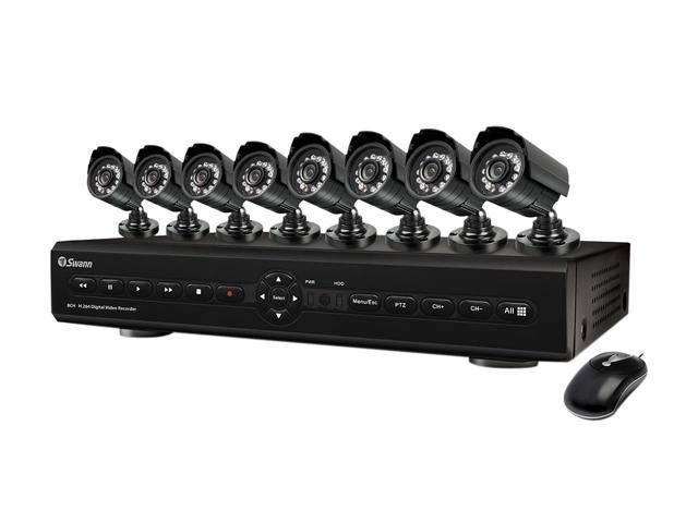 Swann SWDVK-825508-US 8 Channel 8 Channel Networking Digital Video Recorder & 8 x PRO-580 Camera
