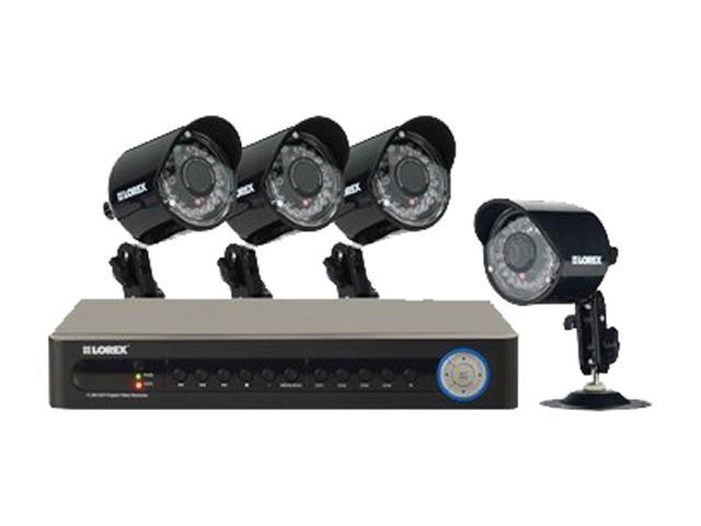 Lorex LH114501C4 ECO 4-Channel Security Camera System w/ 4 x Camera, 500GB SATA HDD