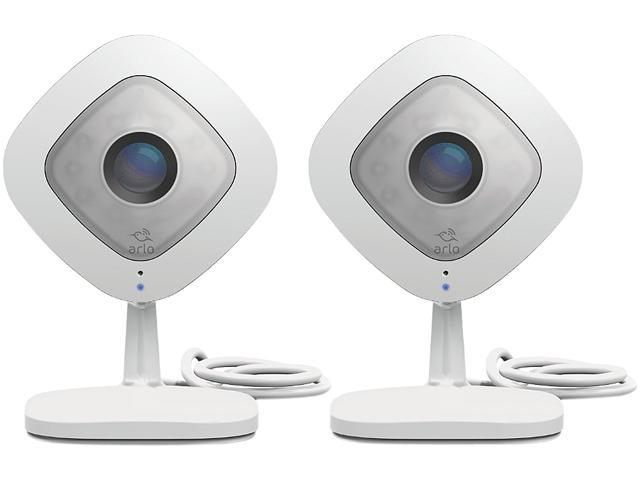 Netgear Arlo Q (2 Pack) 1080p HD Wi-Fi Security Camera with 2 Way Audio & 7 Days of FREE Cloud Recordings - VMC3240-100NAS